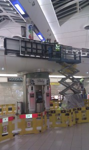 8 Screen video wall installation at Gatwick Airport