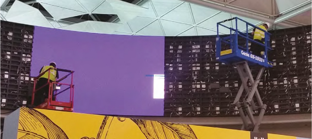 ADXBA digital displays at Stansted airport